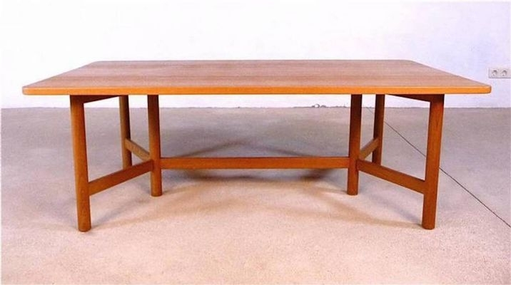Large Norwegian Teak Coffee Table From Rasmus Solberg, 1960S For For Large Teak Coffee Tables (View 22 of 40)