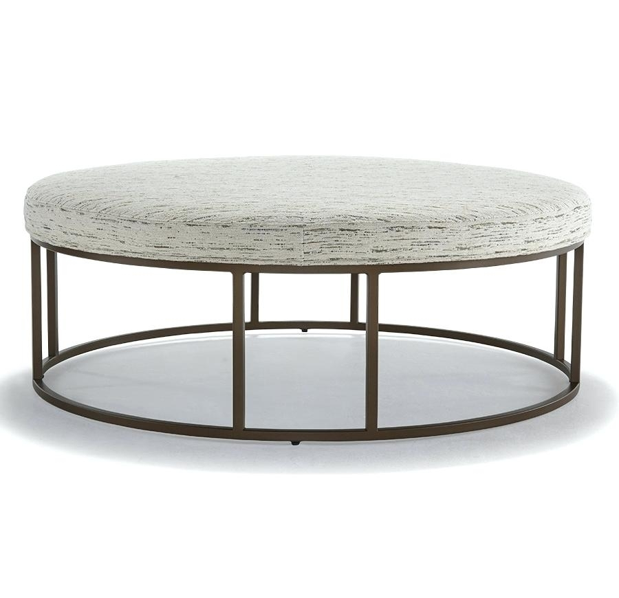 Large Round Storage Ottoman Coffee Table – Hotel Royal Pertaining To Round Button Tufted Coffee Tables (Image 17 of 40)