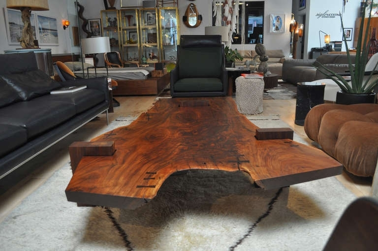 Large Scale Walnut Slab Coffee Tablerichard Patterson At 1Stdibs With Kai Large Cocktail Tables (Image 22 of 40)