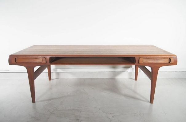 Large Scandinavian Modern Teak Coffee Table, 1960S For Sale At Pamono Intended For Large Teak Coffee Tables (View 3 of 40)