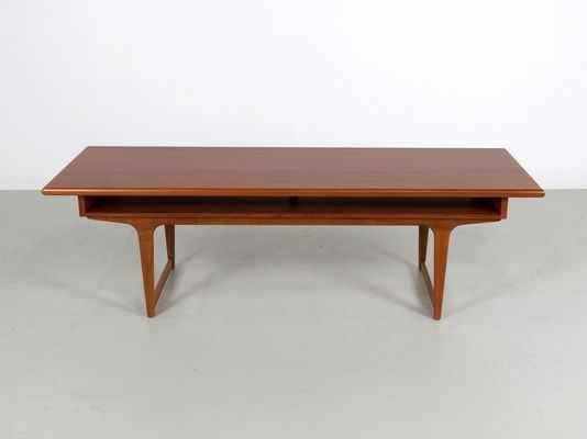Large Teak Danish Coffee Table, 1960S For Sale At Pamono Within Large Teak Coffee Tables (View 11 of 40)