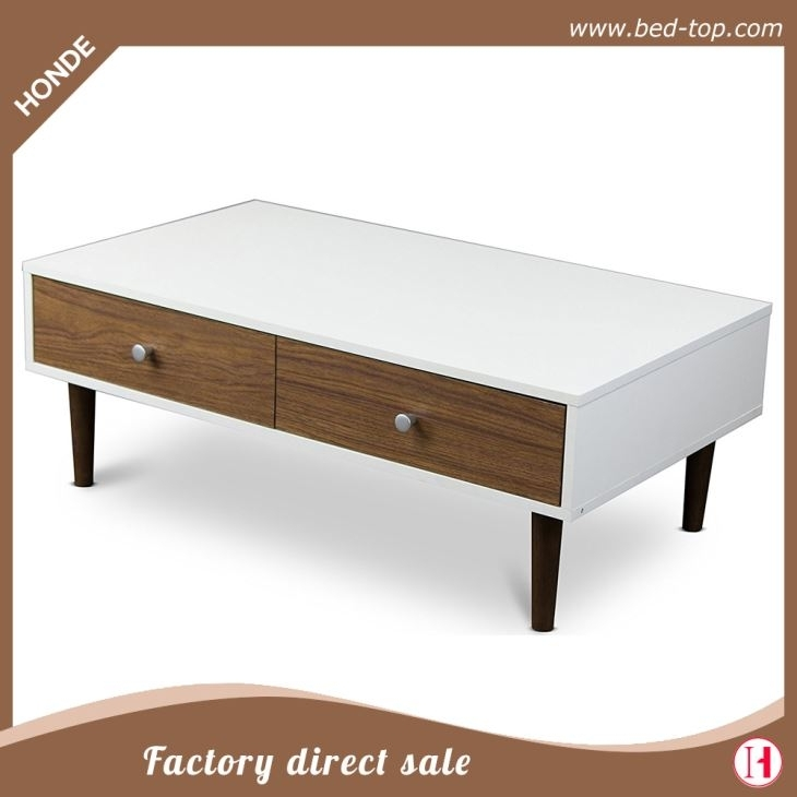 Latest Design White High Gloss Mdf Storage Coffee Table For Sale Inside Stack Hi Gloss Wood Coffee Tables (View 6 of 40)