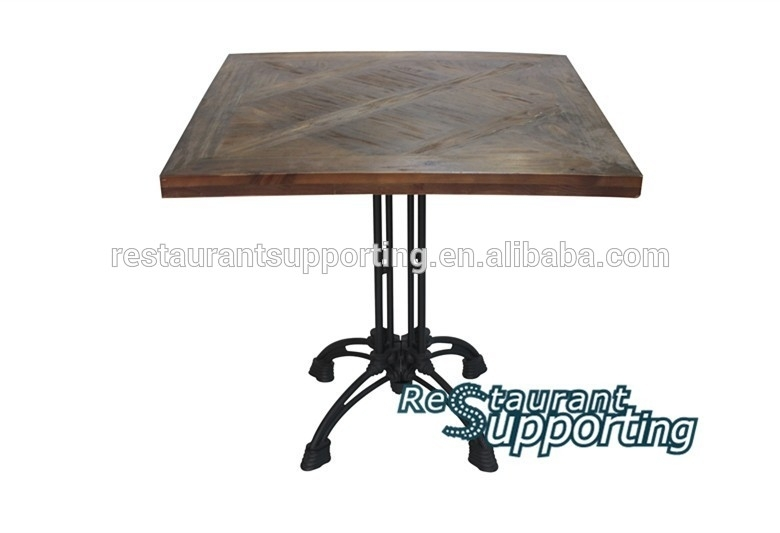 Latest Restaurant Furniture Solid Wooded Table Top Designs With For Pine Metal Tube Coffee Tables (Photo 34 of 40)