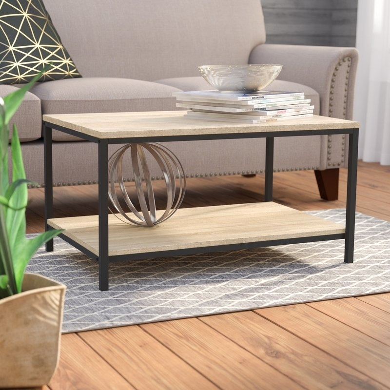Laurel Foundry Modern Farmhouse Ermont Coffee Table & Reviews | Wayfair Throughout Large Scale Chinese Farmhouse Coffee Tables (Image 25 of 40)