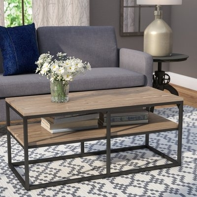 Laurel Foundry Modern Farmhouse Ermont Coffee Table & Reviews | Wayfair Within Large Scale Chinese Farmhouse Coffee Tables (Image 27 of 40)