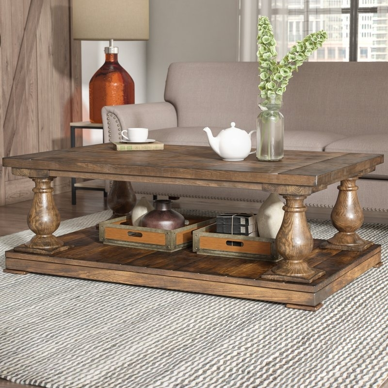 Laurel Foundry Modern Farmhouse Gladiola Coffee Table | Wayfair With Regard To Foundry Cocktail Tables (Image 28 of 40)