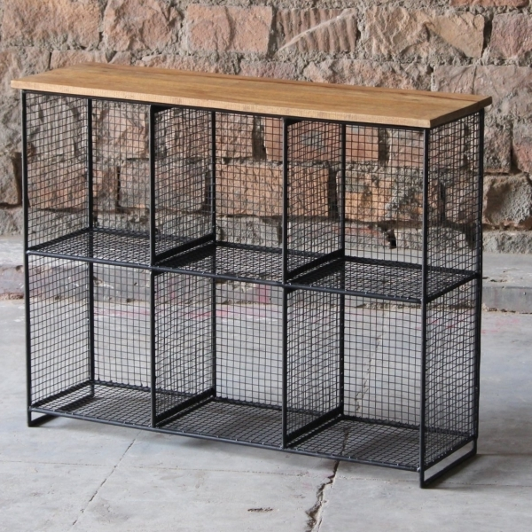 Layla Cube 6 Shelf Storage Unit | Little Tree Furniture In Aged Iron Cube Tables (Image 28 of 40)