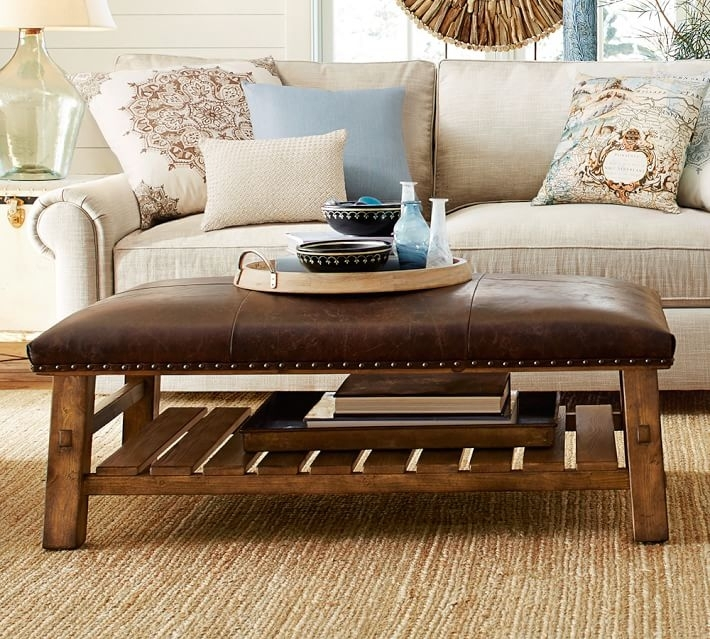 Leather Coffee Table | Shakesisshakes In Mill Large Leather Coffee Tables (View 7 of 40)
