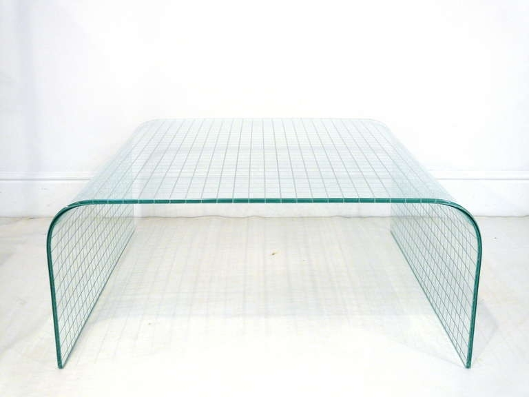 Leon Rosen Waterfall Glass Coffee Table For Sale At 1Stdibs In Waterfall Coffee Tables (Image 15 of 40)