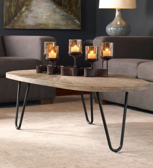 Leveni Iron And Reclaimed Elm Coffee Table | Vivaterra Regarding Reclaimed Elm Iron Coffee Tables (View 7 of 40)