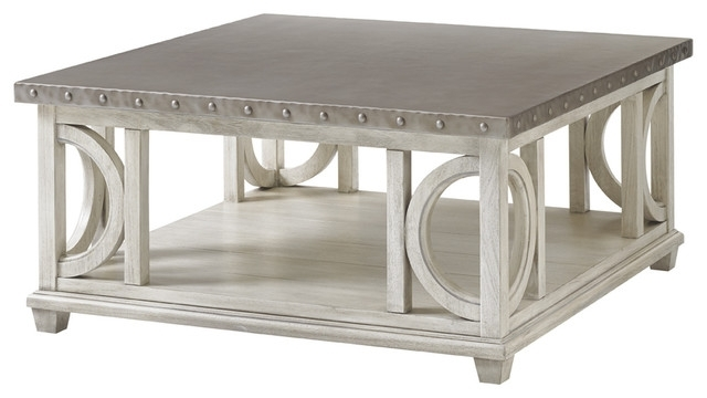 Lexington Oyster Bay Litchfield Square Cocktail Table – Contemporary For Wyatt Cocktail Tables (Image 14 of 40)