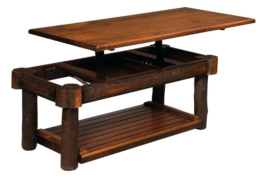 Lift Top Coffee Tables Amish Rustic Coffee Table With Solid Lift Top For Jaxon Grey Lift Top Cocktail Tables (Image 28 of 40)