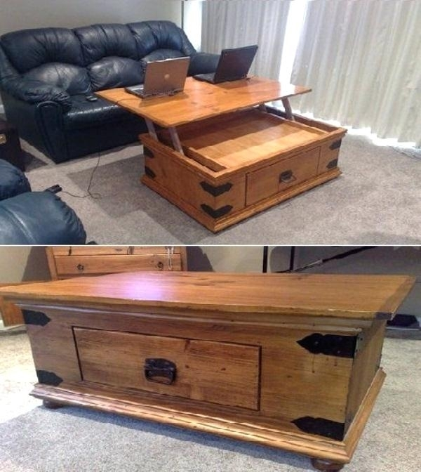Lift Top Coffee Tables – Cacrt Inside Ontario Cocktail Tables With Casters (View 31 of 40)