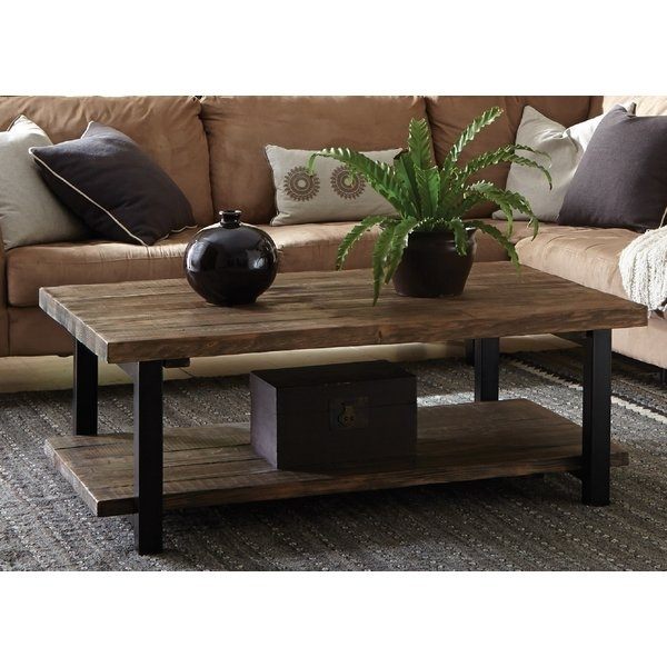 Light Wood Coffee Table | Wayfair Throughout Large Scale Chinese Farmhouse Coffee Tables (Image 30 of 40)