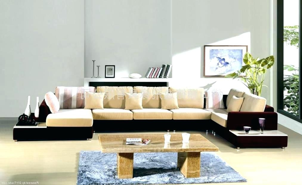 Linen Chesterfield Sofa Modern Expressionist Art And Cowhide Rug With Expressionist Coffee Tables (Photo 39 of 40)