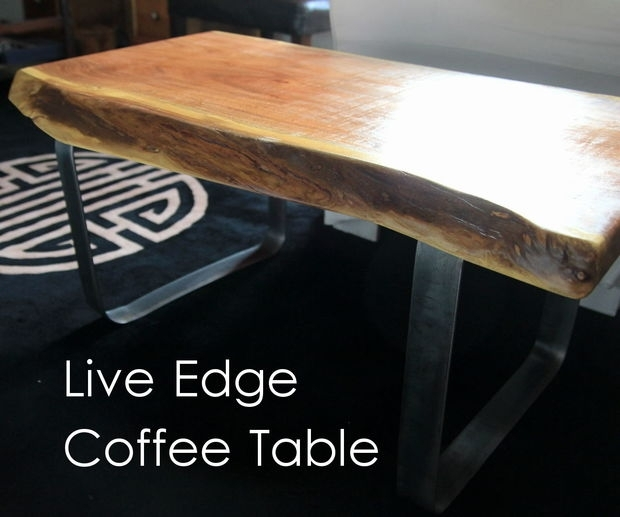 Live Edge Coffee Table W/ Metal Base: 8 Steps (With Pictures) Inside Chiseled Edge Coffee Tables (View 27 of 40)