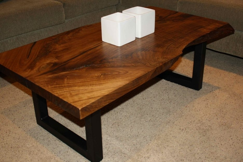 Live Edge Round Slab Wood Slab Table Base Large Wood Slabs For In Slab Large Marble Coffee Tables With Brass Base (Image 19 of 40)