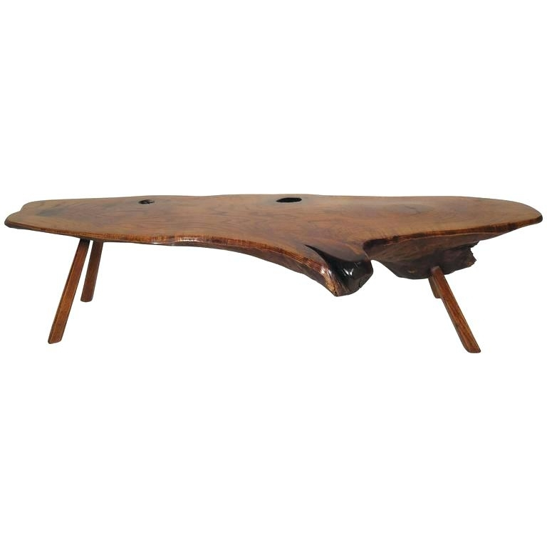 Live Edge Table For Sale Mid Century Modern Live Edge Coffee Table Regarding Chiseled Edge Coffee Tables (View 40 of 40)