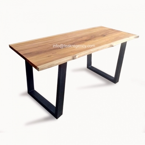Live Edge Teak Wood Slab Table Desk · Reclaimed Teak Root And Intended For Live Edge Teak Coffee Tables (Photo 35 of 40)