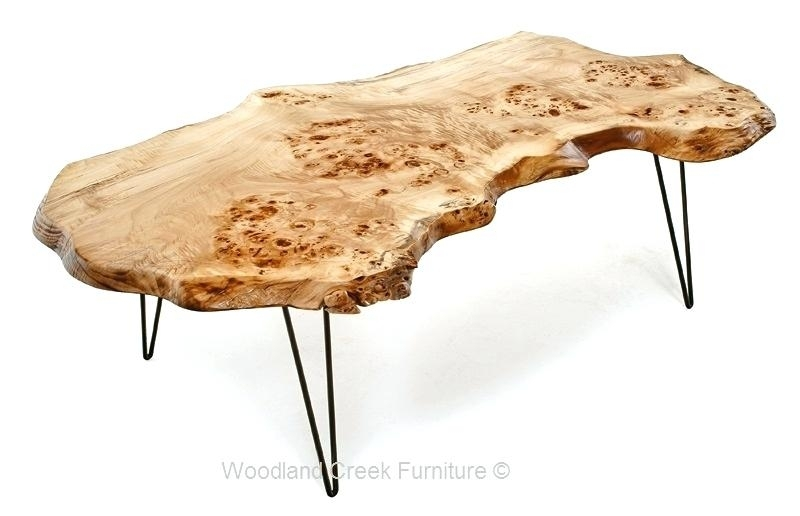 Live Wood Coffee Table New Edge Slab With Hair Pin In 12 Within Live Edge Teak Coffee Tables (Photo 40 of 40)
