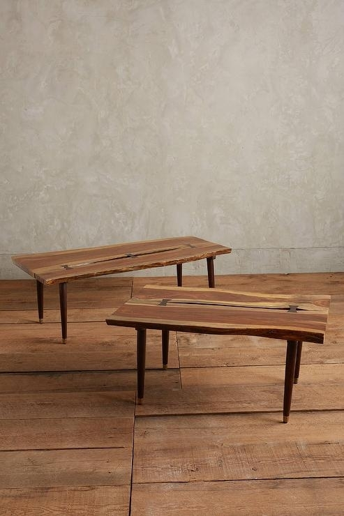 Live Wood Coffee Table Popular Brown Organic Edge Pertaining To 15 With Live Edge Teak Coffee Tables (View 18 of 40)