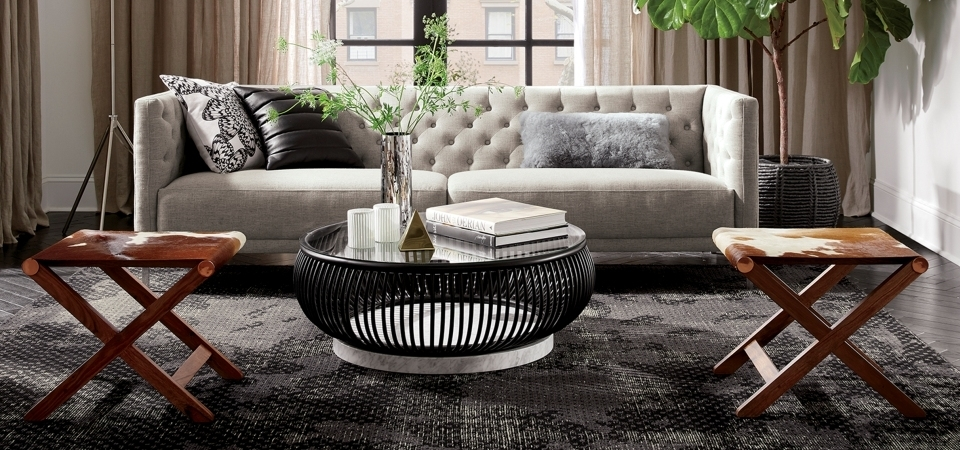 Living Room Makeover Ideas | Cb2 Blog Throughout Haven Coffee Tables (Image 30 of 40)