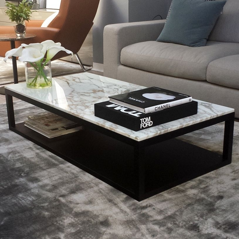 Living Room Modern Coffee Table Marble Marble Coffee And End Table With Regard To Modern Marble Iron Coffee Tables (Image 20 of 40)