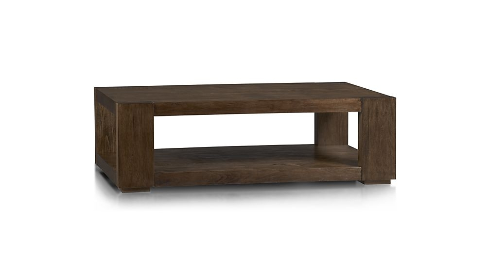 Lodge Coffee Table + Reviews | Crate And Barrel Within Zander Cocktail Tables (View 15 of 40)