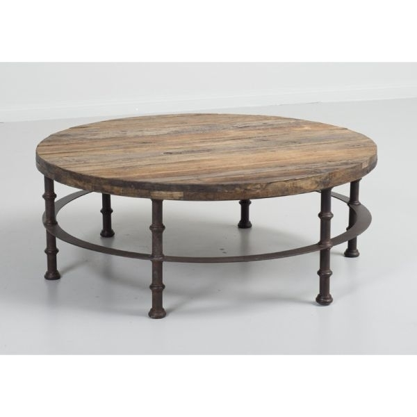 Loft Reclaimed Elmwood Round Coffee Table | D B Imports Pertaining To Reclaimed Elm Iron Coffee Tables (Photo 2 of 40)