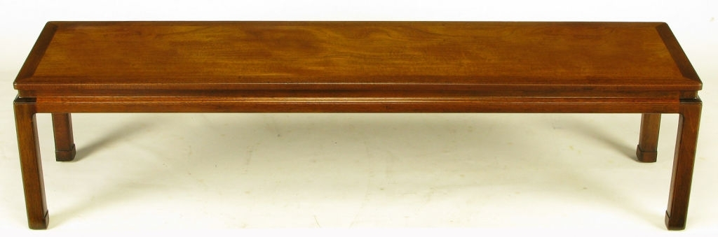 Long Narrow Coffee Table Popular Mahogany Handmade And Industrial Inside Faux Bois Coffee Tables (View 36 of 40)