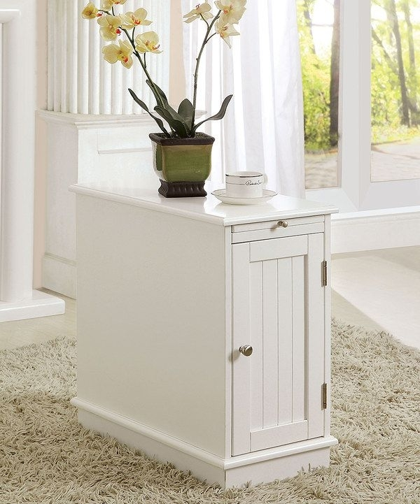 Look At This White Naveen Cabinet Accent Table On #zulily Today Pertaining To Naveen Coffee Tables (View 6 of 40)