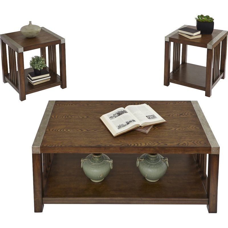 Loon Peak Creede 3 Piece Coffee Table Set & Reviews | Wayfair In Jonah Lift Top Cocktail Tables (View 7 of 40)