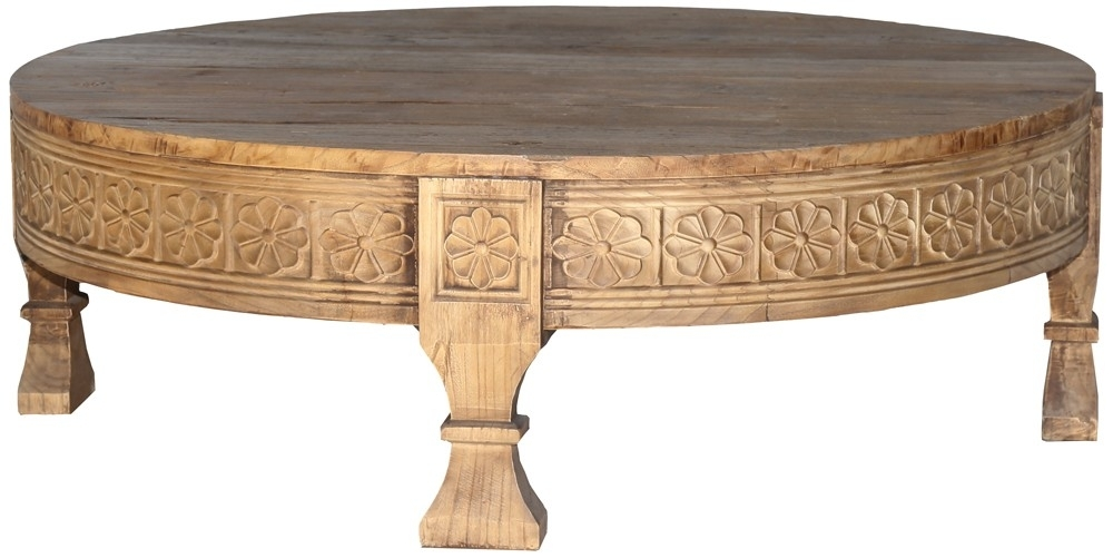 Lovable Carved Coffee Table Carved Wood Coffee Table West Elm Pertaining To Round Carved Wood Coffee Tables (Image 23 of 40)