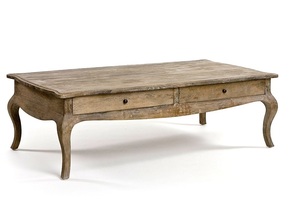 Lovable French Country Coffee Table French Country Coffee Table With Within Natural 2 Drawer Shutter Coffee Tables (Image 27 of 40)