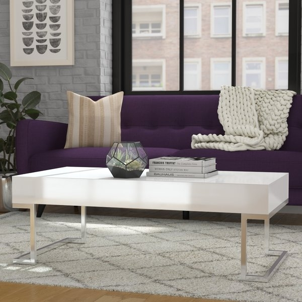 Low Modern Coffee Table | Wayfair Within Stately Acrylic Coffee Tables (View 30 of 40)