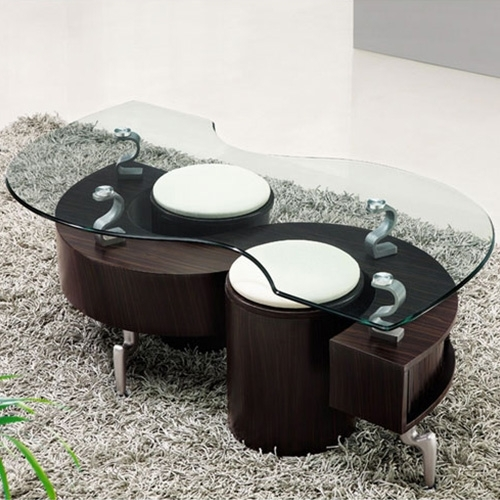 Lucca Contemporary Glass Coffee Table In Brown | Buy Coffee Tables With Regard To Contemporary Curves Coffee Tables (View 21 of 40)