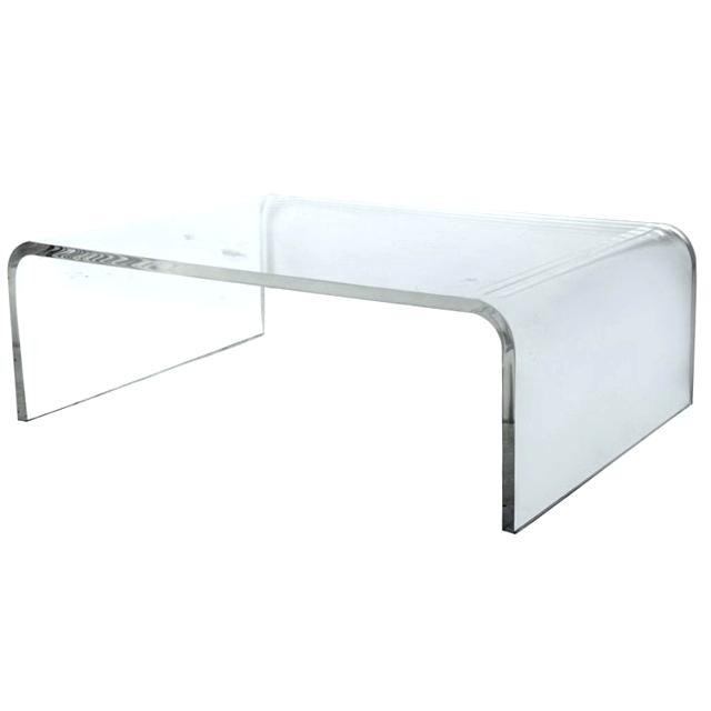 Lucite Coffee Table Waterfall Coffee Table Waterfall Coffee Table Throughout Square Waterfall Coffee Tables (Image 25 of 40)