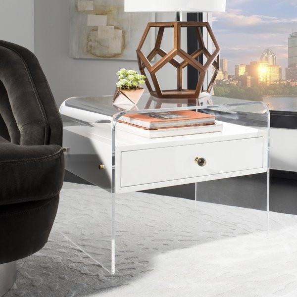 Lucite Side Table | Wayfair With Regard To Stately Acrylic Coffee Tables (Photo 9 of 40)