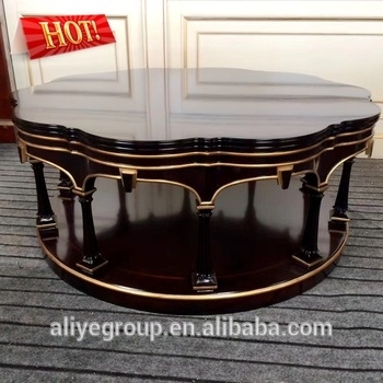 Luxury Classic Solid Wood High End Carved Wooden Beautiful Wood Within Round Carved Wood Coffee Tables (Image 24 of 40)