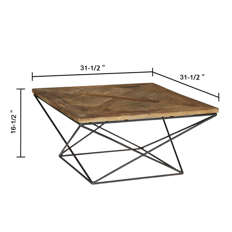 Magari Torcere Reclaimed Elm Wood Coffee Table & Reviews | Wayfair Intended For Reclaimed Elm Cast Iron Coffee Tables (Photo 9 of 40)