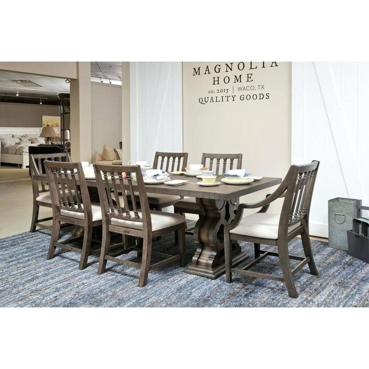 Magnolia Dining Table – Cybermotors.co With Regard To Magnolia Home Iron Trestle Cocktail Tables (Photo 31 of 40)