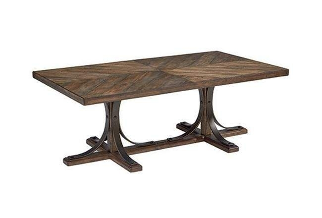 Magnolia Home Iron Trestle Cocktail Tablejoanna Gaines | Joanna For Ashburn Cocktail Tables (Image 29 of 40)