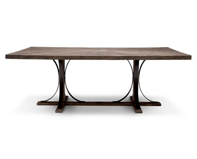 Magnolia Home Iron Trestle Dining Table – Furniture Row In Magnolia Home Iron Trestle Cocktail Tables (Photo 3 of 40)