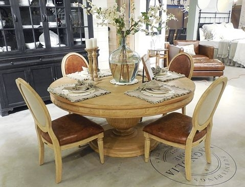 Magnolia Home Round Dining Table | Magnolia♡ In 2018 | Pinterest Throughout Magnolia Home Louver Cocktail Tables (Image 23 of 39)