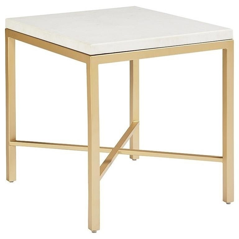 Magnolia Homejoanna Gaines Modern Luxe End Table With Marble Top With Regard To Magnolia Home Ellipse Cocktail Tables By Joanna Gaines (Image 31 of 40)