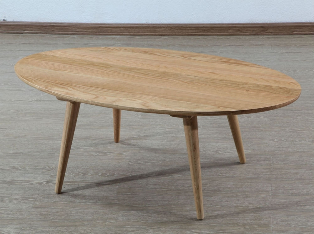 Magnus Oval Coffee Table – Solid Oak – 120X65X45Cm – Icondesign In Brisbane Oval Coffee Tables (Image 19 of 40)