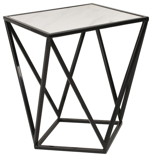 Maia Metal Side Accent Table With Marble Top – Modern – Side Tables With Regard To Modern Marble Iron Coffee Tables (Image 22 of 40)
