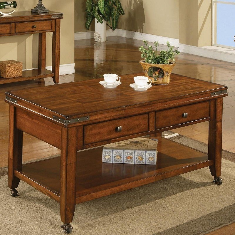 Mango 2 Drawer Coffee Table With Caster – Mango – Amg100C | Products Within Autumn Cocktail Tables With Casters (Image 24 of 40)
