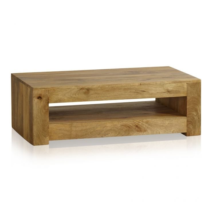 Mantis Light Coffee Table In Solid Mango | Oak Furniture Land Throughout Light Natural Coffee Tables (Photo 6 of 40)