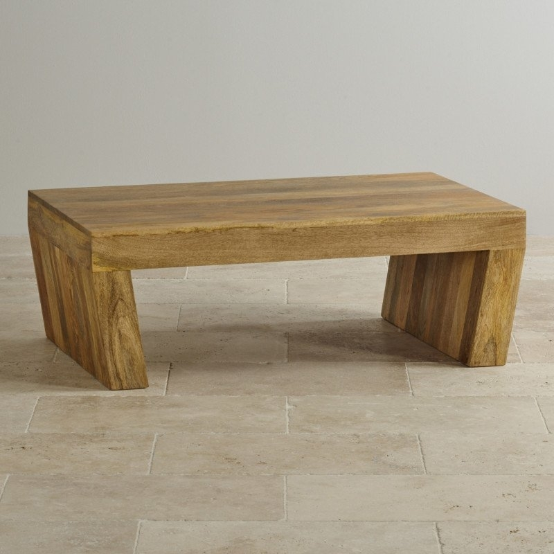 Mantis Light Natural Solid Mango Angled Coffee Table | Coffee Tables In Light Natural Coffee Tables (View 11 of 40)